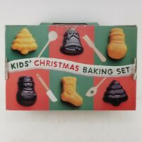 Williams Sonoma Kids Christmas Baking Set Germany 4 Metal Mold Mini Sifter Wood
