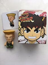 """BOXED 3"""" SMALL KIDROBOT STREET FIGHTER SERIES 1 GUILE GREEN ACTION FIGURE"""