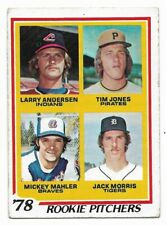 1978 Topps #703 Rookie Pitchers, Jack Morris, Detroit Tigers