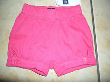 BNWT BABY GAP GIRL'S SHORTS WITH ELASTICATED WAIST 0-3 MONTHS  100% COTTON