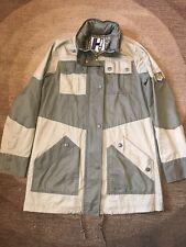 Henry Holland Patchwork Khaki Coat Jacket UK10 Parka Military Floral Rain Spring