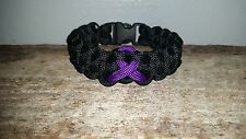 Pancreatic Cancer / Epilepsy / ADD ADHD Awareness 550 paracord survival bracelet