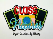 CRAFTECAFE Mindy CLASS PICTURES SCHOOL TITLE premade paper piecing scrapbook