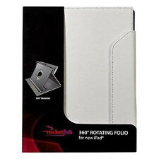 RocketFish New Rotating Folio Style Protection Case For Apple iPad Air - White