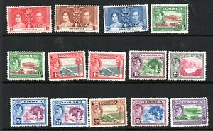 Dominica George VI Mounted Mint Collection of 20 Stamps