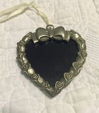 Longaberger Heart Photo Picture Pewter Tie on Euc