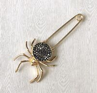 Unique Vintage Style Safety  Spider Pin  Brooch