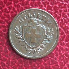 Suisse -  Rare et Superbe monnaie de  1 Rappen 1906  B - millésime rare