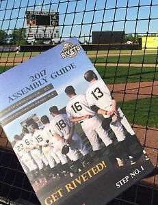 2017 Rockford Rivets Home Opener Program Northwoods League Illinois Future MLB !