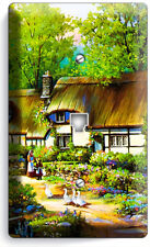 Old European Country Village Cottage House Phone Telephone Cover Wall Plates Art
