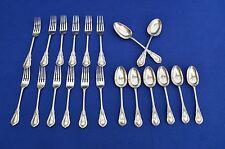 Antique Art Nouveau Mappin & Webb Silver Plate Cutlery - 20 Pieces - Antique