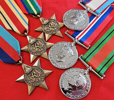 *WW2 AUSTRALIAN NORTH AFRICA TOBRUK & PACIFIC KOKODA MEDAL GROUP REPLICA ANZAC*