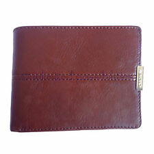 OROTON Austere New Leather Mens Wallet 12 CC Chocolate Tag Box