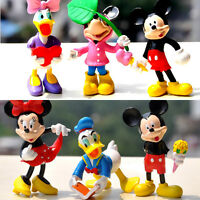 Disney Mickey & Minnie Action Figure Kid Display Figurines Cake Topper Decor Toy