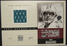 2004 SKYBOX L.E.GENDS OF THE DRAFT DAN MARINO JERSEY CARD MIAMI DOLPHINS /83