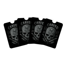 Carved One Shot Kill USA Flag Skull Credit Card RFID Blocker Sleeves Set