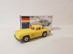 Tomica F19 - MERCEDES BENZ 300SL GULLWING [YELLOW] MINT VHTF MADE IN JAPAN