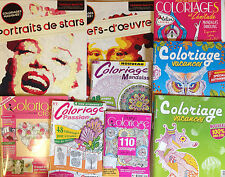 LOT 18 MAGAZINES COLORIAGE ANTI-STRESS ART THERAPIE coloriages LOT 11