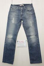 Levi's 511 Slim jeans con rotture usato (Cod.F515) Tg.46 W32 L30 vintage custom