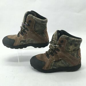 Rocky Waterproof 800G Insulated Hunting Boot Kids 6M Brown Camo Womens 8 Lace Up