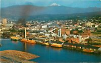 Bellingham Birdseye Ellis 1950s Puget Sound Pulp Timber Washington Postcard 896