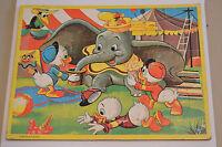 Vintage Walt Disney Character Jaymar Frame Tray Picture Puzzle Dumbo Huey Dewey