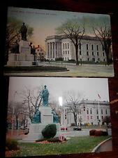 LYNN MA - CIVIL WAR - SOLDIERS' MONUMENT - OLD Postcard plus MODERN PHOTO