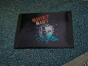 NEW Vintage Original 1980s QUIET RIOT METAL HEALTH LP Nylon Bi-Fold Wallet Black