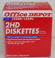 """Office Depot 3.5"""" 1.44 MB 2HD Diskettes"""