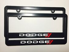 Dodge Plastic License Plate Frame Vinyl Decal Charger Challenger Dart Durango