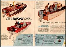 1958 Mercury Boats 3 models Mark 28,58 and 78 Vintage Print Ad