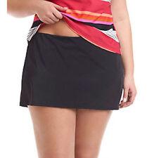 JAG Sport Women`s Plus Size Black Skirted Swim Bottom 20 W New $50