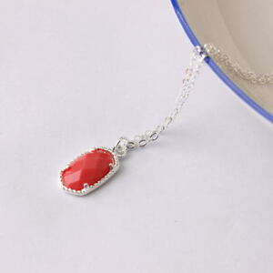 Gold Silver Plated Faceted Resin Pendant Boutique Chocker Necklace for Girls