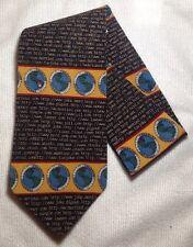 """Vicky Davis """"THE NET"""" Neck Tie 100% Silk Necktie internet nerd computer geek"""