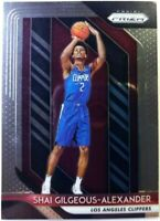 2018 18-19 Panini Prizm Shai Gilgeous-Alexander Rookie RC #184, Clippers Thunder