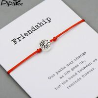 Life Tree Charm Lucky Bracelet Lucky Red String Friendship Jewelry Gift Family