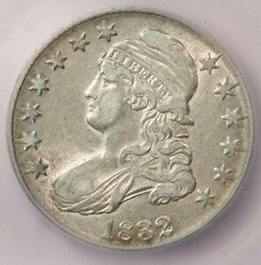 1832-P 1832 Capped Bust Half Dollar ICG AU50 O-105 Beautiful and flashy!