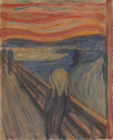 EDVARD MUNCH THE SCREAM 1893 LANDSCAPE ART PRINT REPRODUCTION ON CANVAS 18x24
