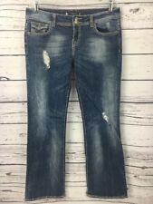 Vigoss Women's Jeans Size 31 Sandblast Mid Rise Fit Bootcut Thick Stitch Flap