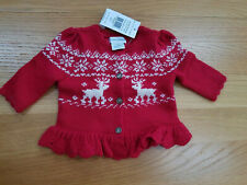Ralph Lauren Baby girl red reindeer cardigan 3 months NWT christmas jumper