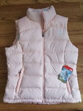 The North Face Womens Nuptse Vest 700 down size Medium Tropical Peach NEW