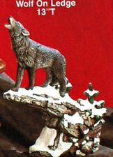 CERAMIC BISQUE ~WOLF ON LEDGE~READY TO PAINT