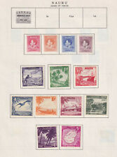 NAURU INTERESTING COLLECTION ON ALBUM PAGES - W891