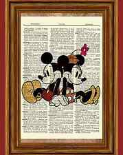 Classic Mickey & Minnie Mouse Dictionary Art Print Quote Poster Picture Disney