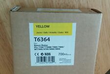 06-2018 New EPSON T6364 Yellow Ink 700ml Stylus Pro 7890/7900/9890/9900