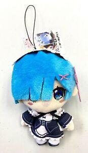 Re Zero Anime Tomonui Mascot Toy Plush Charm Keychain Doll Rem Maid Suit TA96700