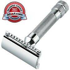 Merkur 34C HD Heavy Duty Cromado Mango Doble Filo SAFETY RAZOR Corto