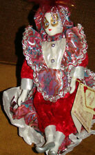 3 Porcelain Rotating Clown / Mime Music box Hand Painted Collectors choice