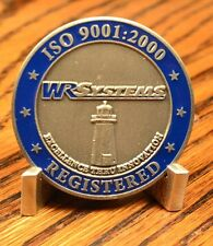 WR Systems ISO 9001:2000 Registered 25 Yr Anniversary Challenge Coin X