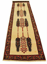 "Hand Knotted 2.7"" x 9' Runner Gabbeh Cypress Tree Persian Wool Area Rugs Carpets"